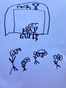 Beautiful artwork from my eldest Skye. I didn't really win ;)