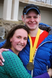 My lovely, smiley wife, Louise, and I at the finish