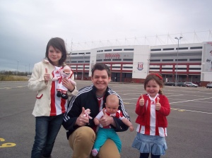 Being on chemo means I can just get on and live life with my wife and girls. They still might not thank me for taking them to see Stoke though.