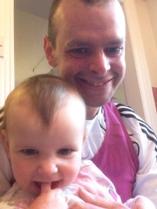 Had a really difficult run, but it's difficult to be glum, with lovely daughters like baby Heidi.