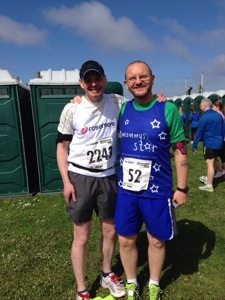 Bumped into Steve, one of the Mummy's Star runners at the Blackpool 10k. Such a nice guy!