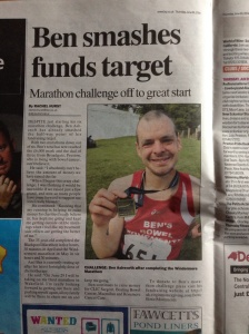 Our local parer, the Lancashire Evening Post, featured a story about out fundraising progress