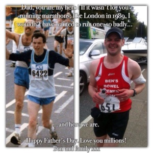 My Dad is one of the reasons I'm running these marathons