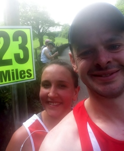 Cheeky selfie at mile 23.