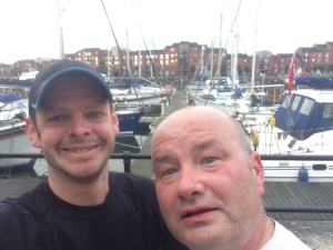 Out running on the docks with my dear mate Simon. Thanks for always waiting for me when I'm late, which is always!