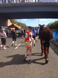 I ran the Great North Run in a pair Beating Bowel Cancer bum shorts. They're a great awareness tool that get people thinking about poo and Bowel Cancer symptoms. Unfortunately I found myself at the butt of everyone's jokes. I had no choice but to turn the other cheek! There was a pair of runners in a donkey costume, so at least I wasn't the only ass!