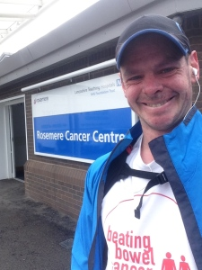I ran to the hospital for the last dose of chemo from that course. A novel way to travel ;)