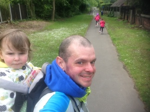 Out for a walk with my girls. My eldest recently took off the stabilisers on her bike. Very proud!