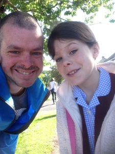 Had a great walk to school with my lovely eldest Skye.