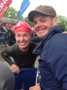 A lovely way to end the week. We went along to watch our friend Fay take part in the Great North Swim where she swam 2 miles.