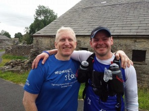 With Steve Marsden, one of the Mummy's Star trustees, during the Mummy's Star Three Peaks day